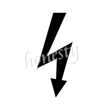 Electric Logo Wall Window Glass Home Door Car Sticker Laptop Auto Truck Black Vinyl Decal Sticker Decor Gift 7.7cmX17.9cm