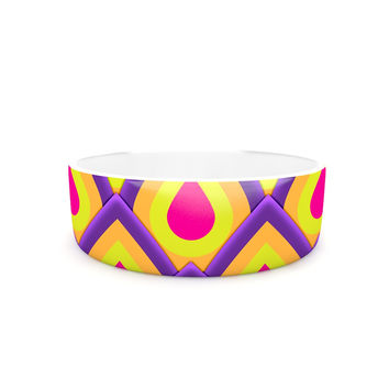"Roberlan ""Pineapple"" Pink Yellow Pet Bowl"