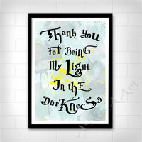Harry Potter and the Cursed Child, Quote, Scorpius Malfoy quote, Instant download, Digital Poster, Home decor, Nursery decor, My light Print