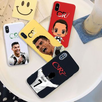 cristiano ronaldo CR7 LOGO soft Silicone black cover phone case for iPhone X XR XS MAX 6 7 8 plus 5 5s 6s se best design Housing