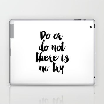 Do Or Do Not There Is No Try - Yoda - Inspirational Quote - Dictionary Print Book Art Print Laptop & iPad Skin by PrintableLifeStyle