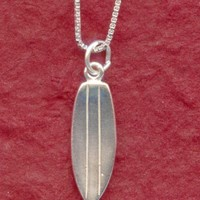 Sterling Silver SurfBoard Necklace