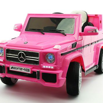 Mercedes G65 AMG 12V Kids Ride-On Car with Parental Remote | Pink