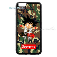 Goku Supreme Bape A Bathing Camo for iPhone 6 6s 6s+ 7 Hard Plastic Cover Case