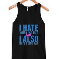 i hate working out tanktop