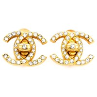 Chanel Vintage Embellished Logo Earrings - What Goes Around Comes Around - Farfetch.com
