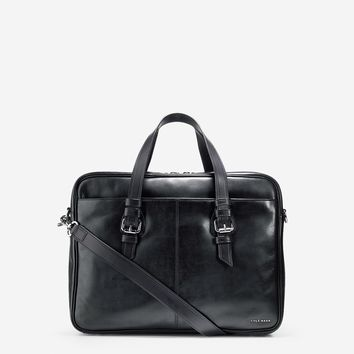 Whitman Leather Top Zip Attache