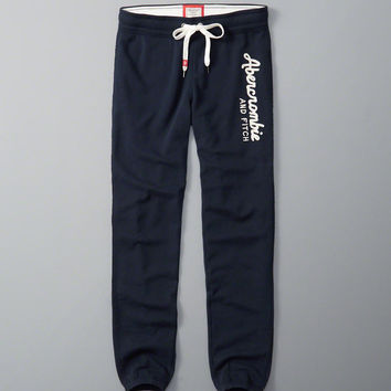 Womens Logo Banded Sweatpants | Womens Bottoms | Abercrombie.com