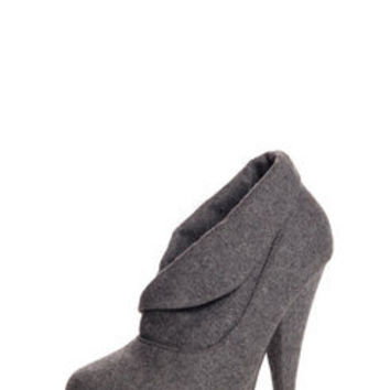 Bella Turn Over Collar Platform Shoe Boot at boohoo.com