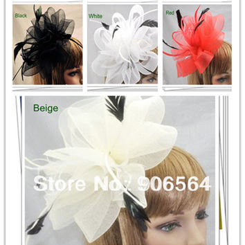 Multiple color avaliable elegant fascinators Good as party hats wedding hats bridal hair accessories occasion headwear