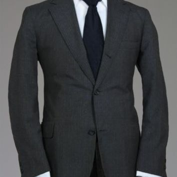 Vtg MOD 60s Brooks Brothers 3/2 Button Roll Charcoal Trad Ivy Blazer/Jacket 40 R Monkey Suit