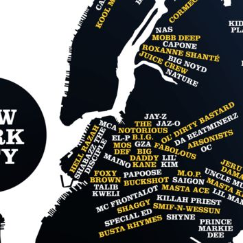 TopatoCo: New York City Area Rappers Map