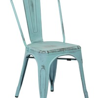 Office Star Antique Sky Blue Bristow Armless Chair (Set of 4)