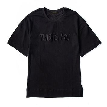 ca qiyif This Is Me Embroidery T Shirts Mens