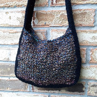 Shoulder Bags for Women, Crochet Handbag, Knit Tote Bag, Shoulder Bag, Knit Purse, Lined Handbag, Boho Handbag, Slouch Bag, Gift Idea #H0022