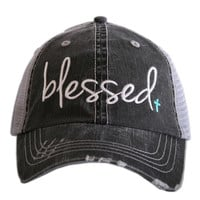 BLUE BLESSED trucker hat, baseball hat
