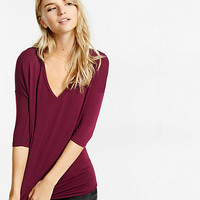 express one eleven v-neck tunic tee