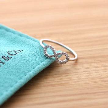 simple INFINITY ring with crystals, 3 colors | girlsluv.it