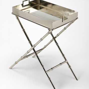 Butler Muriel Metal & Mirror Tray Table