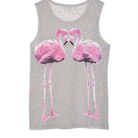 Flamingo Love Burnout Tank