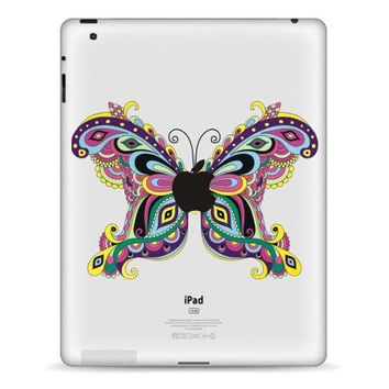 Hot Sale For iPad Vinyl Decal Tablet Partial Sticker Butterfly Print Simple Design Skin For iPad Air Mini Tablet Macbook