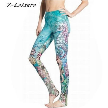 Z-Leisure 2016 Yoga Leggings Sports Pants For  Women  Gym Slimming Quick Dry  Workout Leggings Sexy Skinny Running Tights YG013