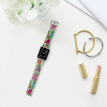 West Coast pineapples transparent apple watch band Apple Watch Band (38mm) by Sharon Turner | Casetify