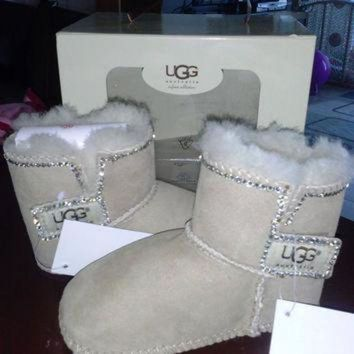 ONETOW baby uggs baby boots fur boots