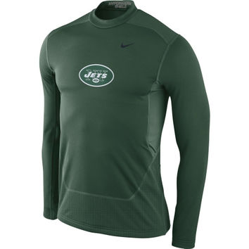 New York Jets Nike Hyperwarm Fitted Shield Max Long Sleeve Performance T-Shirt – Green