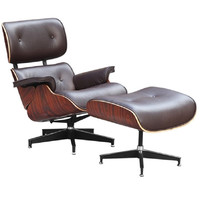 Mid Century Modern Classic Rosewood Plywood Armchair Lounge Set Brown FMI1117