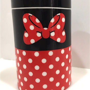 disney parks signature series salt pepper spices ceramic shaker minnie new