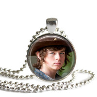 The Walking Dead's Carl Grimes Necklace Handmade Silver Plated Pendant