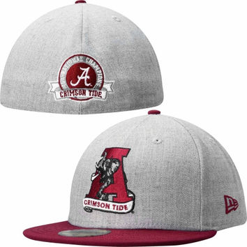 Alabama Crimson Tide New Era 15-time Champion Commemorative 59FIFTY Fitted Hat – Gray