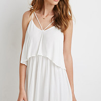 Strappy Flounce Gauze Dress
