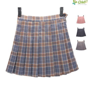 Tartan Design Tennis Skirts Short Leisure School Uniform Plaid Pettiskirt Sport Kilts Summer Women Check Pattern Mini Skirts
