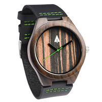 Wooden Watch // Ebony 37 Green