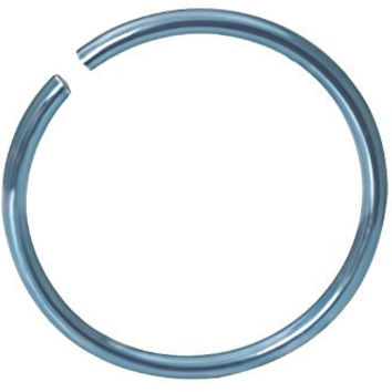 "20g Surgical Steel Titanium Anodized Light Blue 5/16"" Small Nose Ring Hoop Nose Piercing Jewelry"