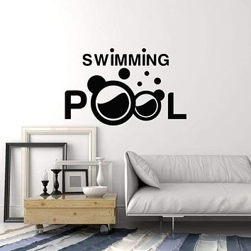 Vinyl Wall Decal Swimming Pool Interior Idea Decor Swimmer Room Art Stickers Mural (ig5785)