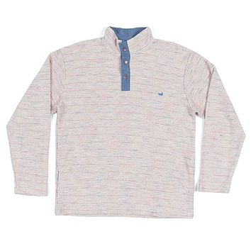 Pawleys Striped Rope Pullover in White by Southern Marsh