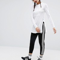 adidas Originals Nyc White Long Sleeve T-Shirt With Side Splits at asos.com