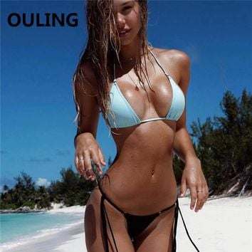 OULING Bandage Bikini Micro Push Up Biquini Sexy Women Swimwear Mini Swimsuit Brazilian Bikini Set Secret Bathing Suit