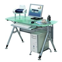 Techni Mobili Glass Computer Desk
