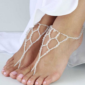 Ladies Shiny New Arrival Gift Stylish Sexy Jewelry Cute Accessory Crystal Beach Stretch Anklet [8527532679]