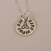Mo Anam Cara - Irish / Gaelic Hand stamped Sterling Silver Necklace