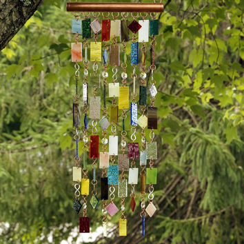 Stained Glass - Colored Glass - Wind Chimes - Sun Catcher - OOAK - Reflections Too