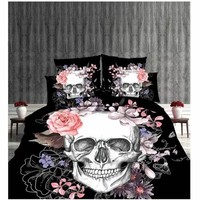 Lai Yin Sun Include Duvet cover Pillow cases 2/3Parts Per Set Bed Sheet Set with Many Latest design Sugar Skull 3d Bedding Set