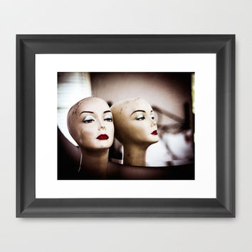 Mannequin Heads Framed Art Print by Squint Photography