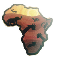 Into to Africa Wild Animals - Novelty Iron On Patch Applique