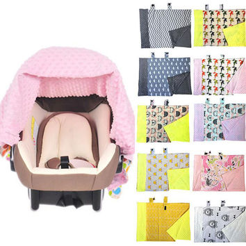 New 1Pc Newborn Baby Infant Nursing Blanket Car Seat Canopy Baby Stroller Covering