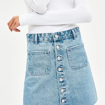 SUPER HI-RISE MINI SKIRT DETAILS